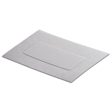 Inlay UHF LABEL WHITE PAPER RECT 43/X18MM - UHF MR6-P White Paper overlay on top Antenna RECT 40/15 mm