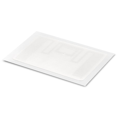 Inlay UHF LABEL PAPER WHITE RECT 54/34MM - UHF MR6-P White Paper overlay on top Antenna RECT 50/30 mm