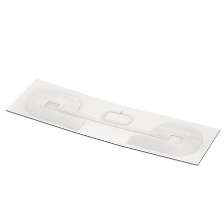 Inlay UHF LABEL CLEAR PP RECT 92/28MM - UHF MR6-P Clear PP overlay on top Antenna RECT 88/24 mm