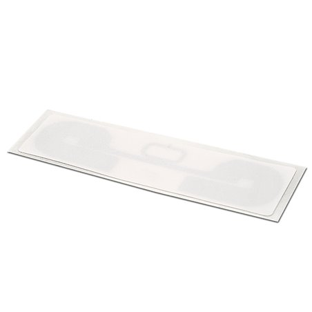 Inlay UHF LABEL WHITE PAPER RECT 92/28MM - UHF MR6-P White Paper overlay on top Antenna RECT 88/24 mm