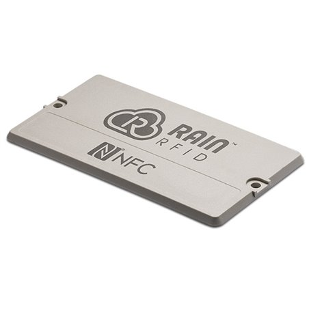 Inline Tag™ Plate Combo - Plate 120/68/3.7 mm (flat, 2 holes) EM4423 UHF UHF 902-928 MHz / NFC ECHO-A, On Plastic only